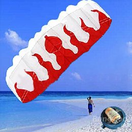 Toptan Satış - Toptan-Sıcak Yazılım 2m Çift Alev Stunt Uçurtma Ekose Kumaş Örgülü Hattı Yumuşak artı malzeme Paraşüt Alev Spor Beach KiteV2730 nereden