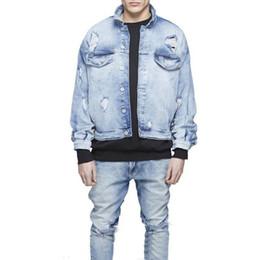 Where to Buy Mens Distressed Denim Jacket Online? Buy Men S Slim ...