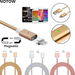 Wholesale Magnetic For Mobile Phone - nylon woven high quality 2.4a micro usb charging cable high speed magnetic adapter for 3.1 type-c android Mobile phone