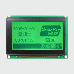 Wholesale Display 12864 - Wholesale-PCB Size: 75.00X52.70MM Graphic Matrix Yellow Green LCD Module Display Screen 12864 build-in KS0108 Controller