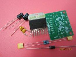 Wholesale Tda7297 Amplifier - Wholesale-1set TDA7297 amplifier board spare parts dc 12v grade 2.0 dual audio encoding 15w electronic diy kit