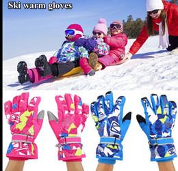 Wholesale Kid S Gloves - adult Children Kids Winter Warm Ski Gloves Sport Gloves Mittens Snowboard Waterproof Windproof Snow Gloves KKA3270