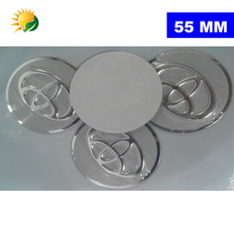 Wholesale Toyota Chrome Badges - 4pcs 55mm Car Styling Accessories Emblem Badge Sticker Wheel Hub Caps Centre Cover for TOYOTA COROLLA RAV4 Camry PRIUS YARIS