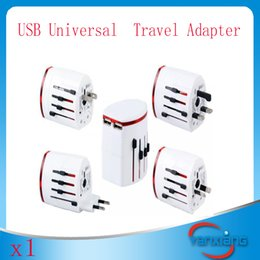 Wholesale Travel Charger Usb Double - 1PC World Travel Adapter Double USB Charger USB Universal Travel AC Power Plug Adapter Adaptor AC DC YX-CD-02