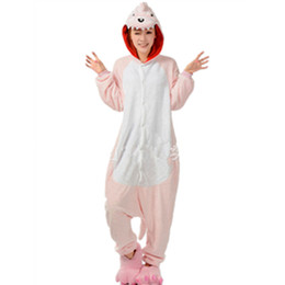 Wholesale Womens Onesies - Winter Unisex Adult Pink dinosaur onesie Pajamas Cosplay animal pajamas onesies pink dragon womens pajamas animal pyjama kawaii Jumpsuit