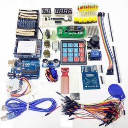 Wholesale Arduino Uno Breadboard - Wholesale-Starter Kit for arduino Uno R3 - Uno R3 Breadboard and holder Step Motor   Servo  1602 LCD   jumper Wire  UNO R3