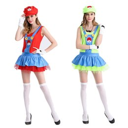 Wholesale Clown Music - Super Mario costume Mario role-playing anime cosplay suit on Halloween Sisters flower clown suit