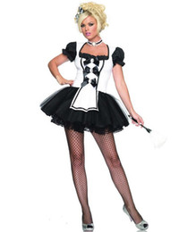 Wholesale Cheap Maid Costumes - Wholesale-Late Nite Maid Cheap price costume Servant Cosplay Sexy women dress exotic apparel maid Halloween cosplay For Women
