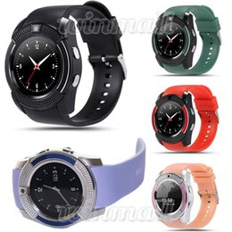 Wholesale micro kid - V8 Smart Watch Bluetooth Watches Android with 0.3M Camera MTK6261D Smartwatch for android phone Micro Sim TF card with Retail Package