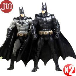 Wholesale Dc Superheroes Action Figures - New 2 PCS DC Universe Batman Movie The Dark Knight Returns Marvel Arkham City Superhero Action Figure Toy Robot Collection