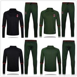Wholesale Discount Dry Suits - High quality discount training suit before 16 17 Survetement AC milan soccer jersey Olympique De jogging training football tracksuit pants