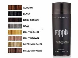 Wholesale Full Solutions - New 27.5g Toppik Hair Building Fibers US with Hairline Optimizer, 9 Colors Natural Keratin Hair Loss Solutions 0.97oz Full Hair
