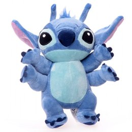 Wholesale Cute Kids Girls Year - Lilo and Stitch Plush Toy 22cm Cute Elf Four Hands Stitch Peluche Stuffed Animal Kids Gift Soft Toys for Girl Boy Children Toys Christmas
