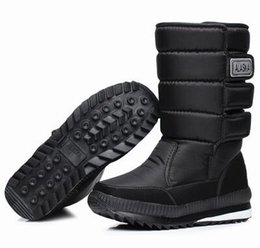 Wholesale Military Platform Boots - 2016 winter warm men's thickening platforms waterproof shoes military desert male knee-high snow boots outdoor hunting botas,size38-47