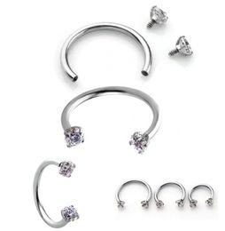 Wholesale Cartilage Hoops - Piercing Septo Nose Lip Eyebrow Ear Septum Cartilage Helix Captive Hoop Ring Percing Labret Nariz Aro Nez 16g 316 Steel