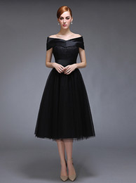Wholesale strapless ball gown patterns - 2016 new black shawl Sweetheart Homecoming Dresses lace short paragraph tutu prom dress simple fashion formal dress plus size