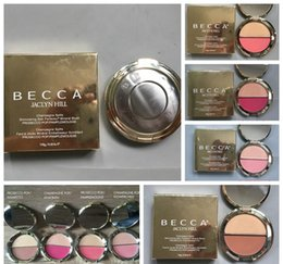 Wholesale Becca Makeup - IN STOCK! Becca Jaclyn Hill blush with highlighter Becca x double blush contour 4 color ! Highest Quality HOT Makeup Free shipping