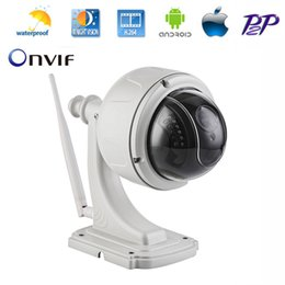 Wholesale Indoor Ptz Dome Ip Camera - Mini PTZ 720P HD High Speed Dome Mini AR0130 CMOS HI3518e Outdoor WiFi Wireless H.264 Onvif 2.0 PTZ IP Camera Surveillace 4XZoom