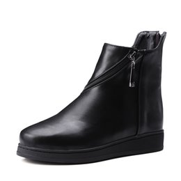 Wholesale Short Rainboots Women - Short black boots In 2016, the new women's boots Martin boots It's warm Exempt postage Large size 34 and 43