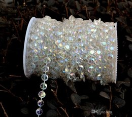 Wholesale Crystal Strands Decorations - 99 feet Bling shinny Diamond Crystal Acrylic Beads Roll Hanging Garland Strand Wedding Birthday Christmas Decor DIY Curtain