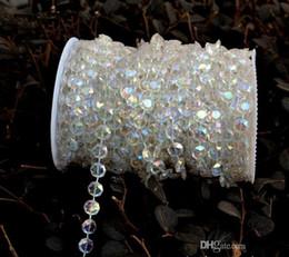 Wholesale Acrylic Crystals Wedding Decor - 99 feet Bling shinny Diamond Crystal Acrylic Beads Roll Hanging Garland Strand Wedding Birthday Christmas Decor DIY Curtain