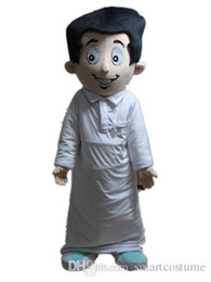 Wholesale Vision Costume - SX0727 Good vision and good Ventilation an Arab man mascot costume with white dress for adult to wear