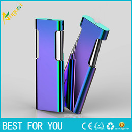 Wholesale Thin Gas Cigarette Lighter - 2017 new metal windproof lighter gas lighter creative ultra-thin multicolor lighter with gift box