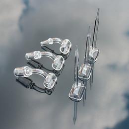 2020 capa do carb Quartzo Trough + Quartz Carb Cap - Fits Glass Oil Rig 100% real de espessura Bangers de Quartzo com 10mm 14mm 18mm masculino feminino conjunta capa do carb barato