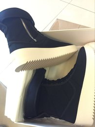 Wholesale Winter Shoes Without Laces - Fear of God Fog Winter Boots Without Box Made in Italy Nylon leather Men Women Winter Shoes FOG black white military boots High shoe