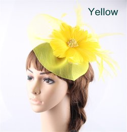 Wholesale Crinoline Hair - Charming multiple colors available crinoline material fascinator hat birthday headpiece race hair accessories free shipping FNR151207