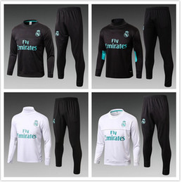 Wholesale Train Set Free - 2017 2018 best quality Real Madrid training suits soccer sets 17 18 real madrid tracksuits RONALDO hoodie free shipping