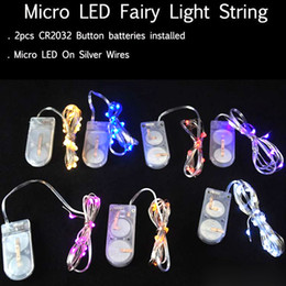 Wholesale Craft Blue Led - 2m 20-LED Copper Wire String Light with Bottle Stopper for Glass Craft Bottle Fairy Valentines Wedding Decoration Lamp Party