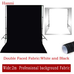 Wholesale Cotton Muslin Backdrops - Wholesale- 2017 New Double Faced Fabric White,Black Width 2M Photo Lighting Studio Cotton Chromakey Screen Muslin Background Cloth Backdrop
