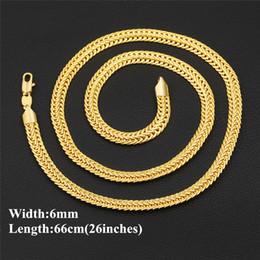 2019 желтое золото 18 k ожерелье Роскошные цепи Ожерелье для мужчин 18K желтое золото покрытием 6 мм 66 см 26 дюймов Foxtail ожерелье цепь для мужчин женщин дешево желтое золото 18 k ожерелье