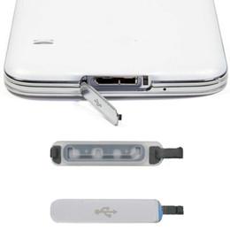 2019 zubehör für s5 Großhandels-ursprüngliches silbernes Telefon-Zubehör-Gebühren-Hafen-Stecker für Galaxie S5 Ersatz-USB-Hafen-Abdeckungs-Klappen-erstklassiger Staub-Stecker rabatt zubehör für s5