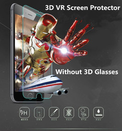Wholesale Naked Glasses - The NEWest 3D VR Screen Protector for iPhone 6 Plus Naked-Eye 3d Display Effect Tempered Glass Film Without 3D Glasses