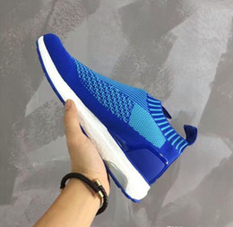 Wholesale M Ii - 100% Original Ace 16 Shoes Ultra Boost II Uncaged Sport Running Shoes Men Beckham Casual Shoes pink yellow blue grey shoes size 40-45