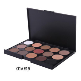 Wholesale Eyeshadow Smoked - .Professional 15 Color Nude Smoked Pearl Eyeshadow Shimmer Eyeshadow Makeup Palette Set Eye Shadow Foundation Makeup Tool