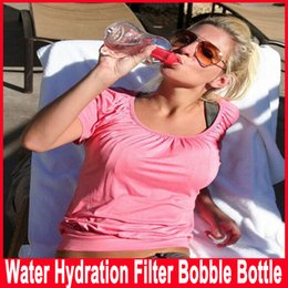Wholesale Filtered Drink Bottles - Water Bobble Fashion Travel Health Net manually activated carbon filter water bottle kettle 550ml RED PINK GREEN BLACK BLUE PURPLE YELLOW