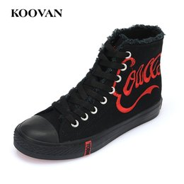 Wholesale Concrete Plate - High Top Canvas Shoes Koovan Women Plate Shoe 2017 Hot Sale Autumn Embroidery Casual Students Flat Bottom Shoe W397