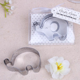 Wholesale Baby Cookie Cutters - Little Elephant Cookie Cutter Baby Shower Favors Stainless Steel Biscuit Cutters Mold Party Giveaway Free Shipping ZA4668