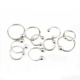 Wholesale Diy Ear Rings - Stainless Steel Captive Ear Eye Nipple Circular Jump Rings Split Rings Jewelry Findings for DIY Making