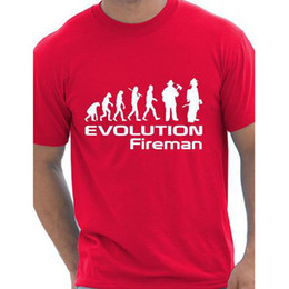 Wholesale Wholesale Firefighter Gifts - Wholesale- Evolution Of A Fireman Gift Firefighter T shirt More Size and Colors funny interesting