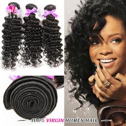 Wholesale Deep Wave Braid Hair - Indian Hair Products Deep Weave 3Bundles 18 inches Black Hair 1B Braiding Hair Deep Weave Double Weft 3 Bundles 7A