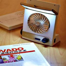Wholesale Solar Table Fan - 3-in-1 Portable Multi-function Mini Solar Fans Rechargeable Eye-Care LED Table Lamp Flashlight Solar Panel Adaptor Plug Power