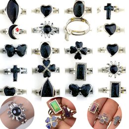 Wholesale Man Change - Mixed Lot 100X 12 Color Women Men Change Mood Adjustable Ring Jewelry Rings Fashion Jewelry [MDR08*100]