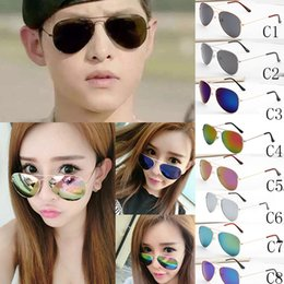 Wholesale Coloured Lenses - 2017 burst women sunglasses sunglas Transparent eyes yurt Driving sunglasses Beach sunglasses sun glasses 9 colour