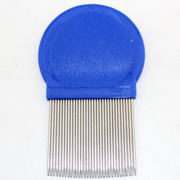 Wholesale Fine Toothed Comb - Wholesale- Stainless steel long needle fine toothed comb fleas removal lice combs