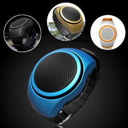 Wholesale Mp3 Phone Watches - B20 Bluetooth Sports Music Watch Portable Mini Watch Bluetooth 2.1+EDR Sport Speaker TF Card FM Audio Radio Speakers