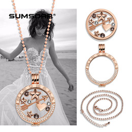 Wholesale Stainless Steel Jewelry Engraved - stainless steel jewelry 33mm diy coin holder chain complete set engraved Mi moneda fashion diamond coin locket necklace